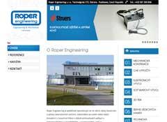 webdesign - ukázka naší tvorby Roper engineering